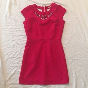 Mustard Seed Pink Mini Dress with Back Cut Outs